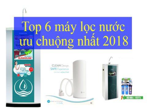 Top 6 máy lọc nước ưu chuộng nhất 2018