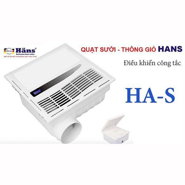 Quạt sưởi âm trần - Quạt sưởi nhà tắm Han-s